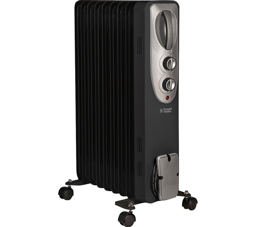 RUSSELL HOBBS RHOFR5002B Portable Oil-Filled Radiator - Black, Black