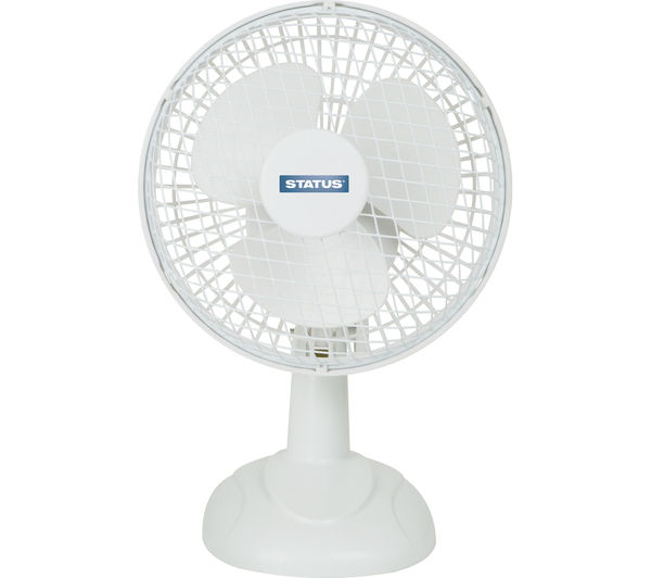 "STATUS 6"" Desk Fan - White, White"