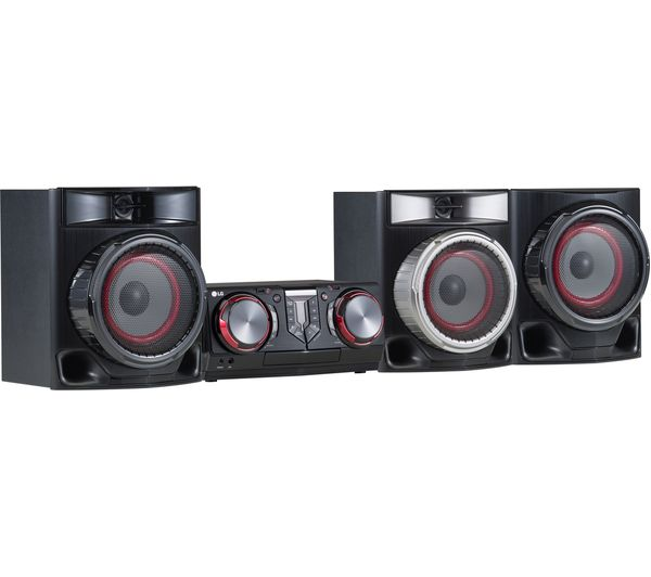 LG CJ45 Bluetooth Megasound Party Hi-Fi System - Black, Black