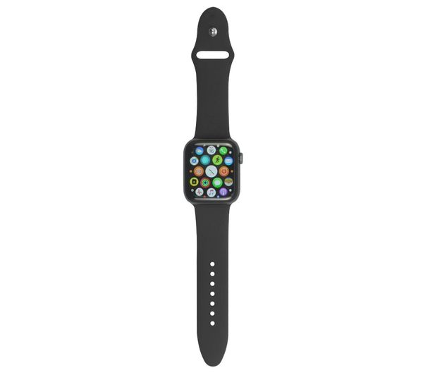 XQISIT Apple Watch 38 / 40 mm Silicone Strap - Black, Small, Black