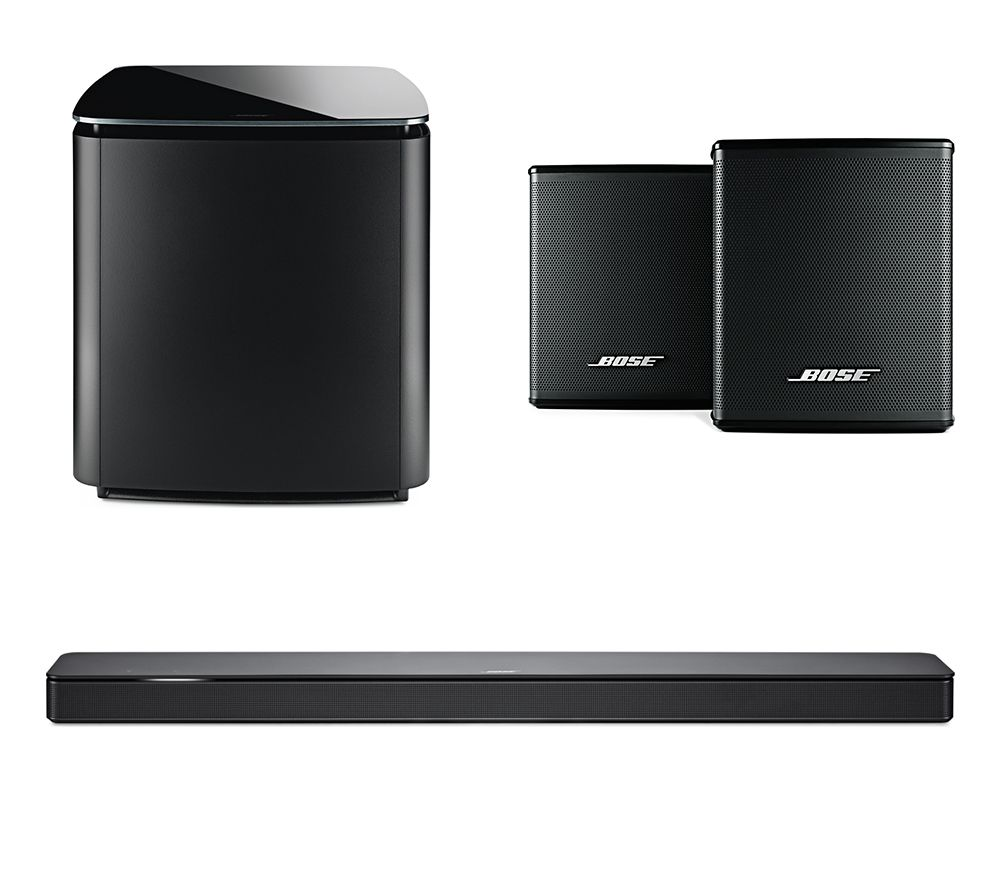 BOSE Soundbar 500, Bass Module 700 & Surround Speakers Bundle, Black