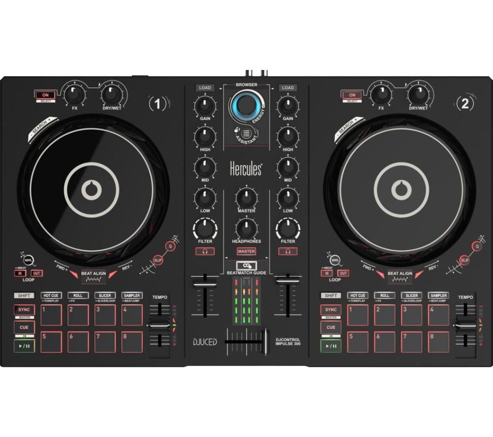 HERCULES DJControl Inpulse 300 - Black, Black