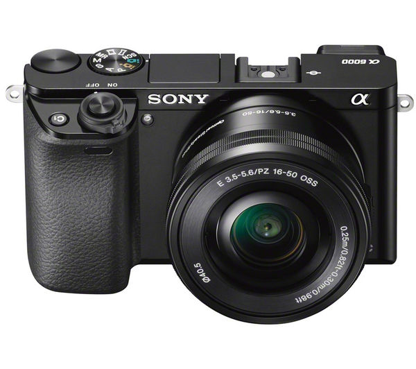 SONY a6000 Mirrorless Camera with 16-50 mm f/3.5-5.6 Lens, White