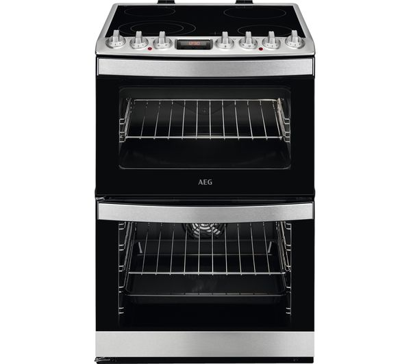 AEG CCS6741ACM 60 cm Electric Ceramic Cooker - Stainless Steel, Stainless Steel