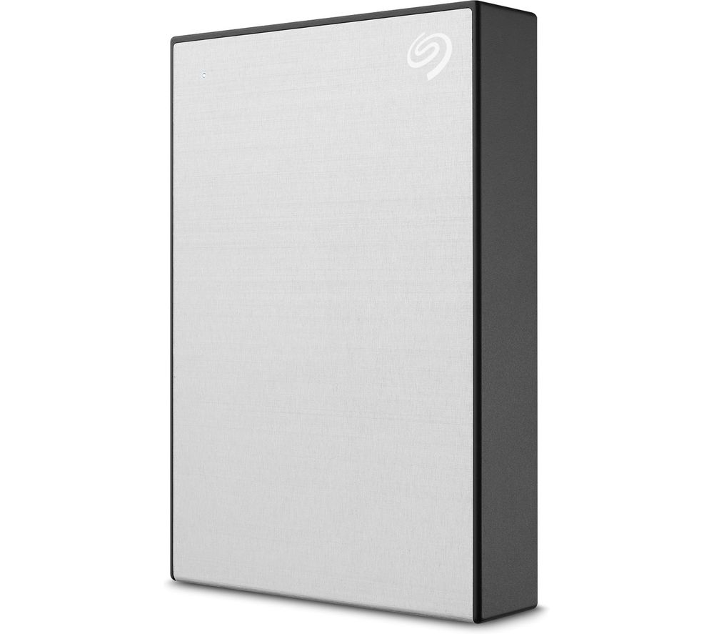 SEAGATE One Touch Portable Hard Drive - 4 TB, Silver, Silver