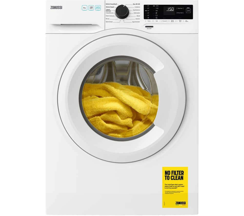 ZANUSSI ZWF944A2PW 9 kg 1400 Spin Washing Machine - White, White