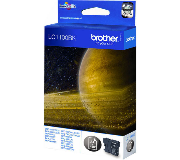 BROTHER LC1100BK Black Ink Cartridge, Black
