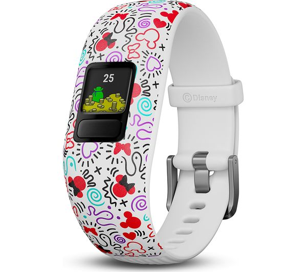 GARMIN vivofit jr 2 Kid's Activity Tracker - Minnie Mouse, Adjustable Band
