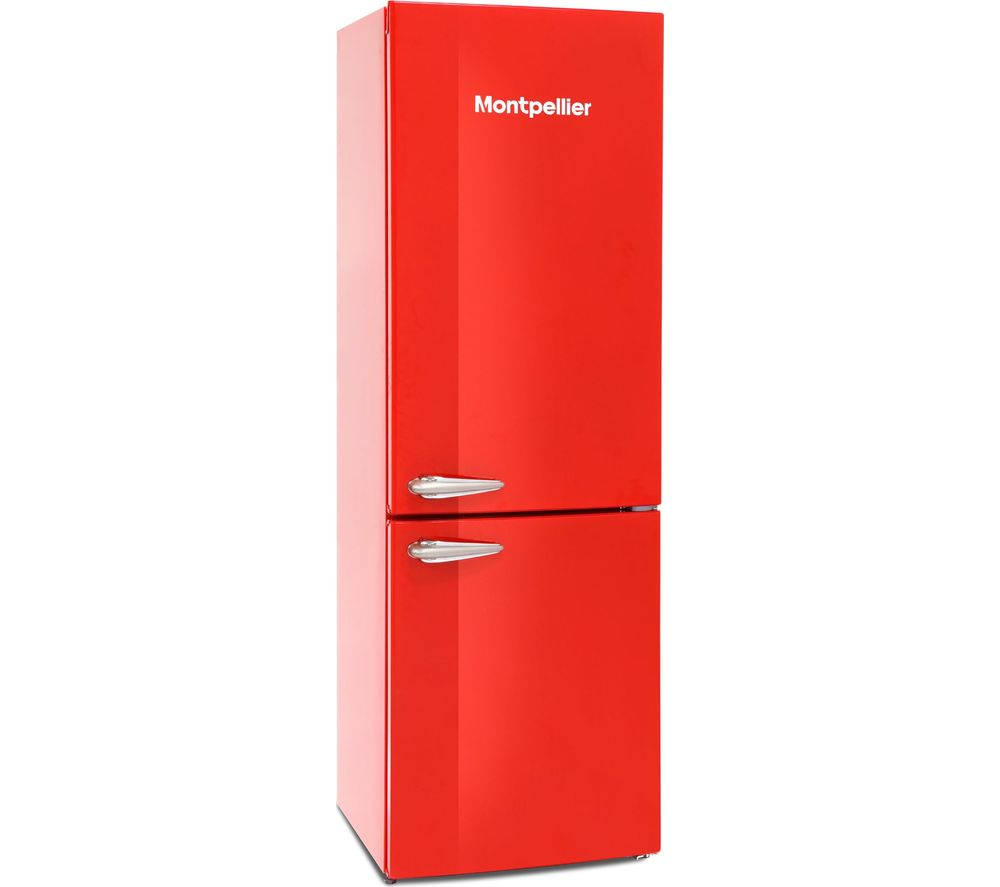 MONTPELLIER MAB385R 60/40 Fridge Freezer - Red, Red