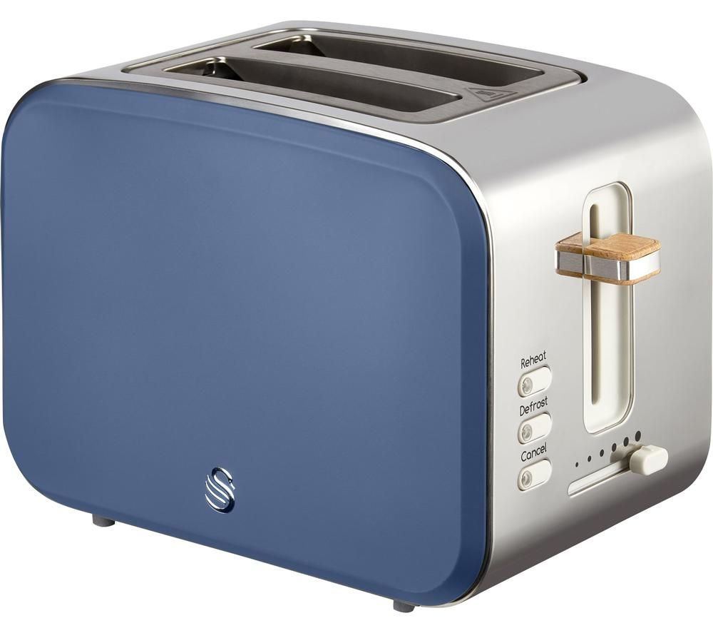 SWAN Nordic ST14610BLUN 2-Slice Toaster - Blue, Blue
