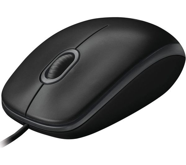 LOGITECH B100 Optical Mouse, Black