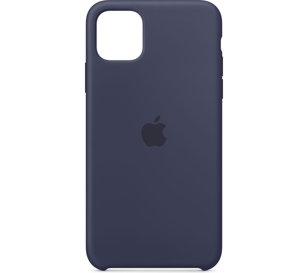 APPLE iPhone 11 Pro Max Silicone Case - Midnight Blue, Blue