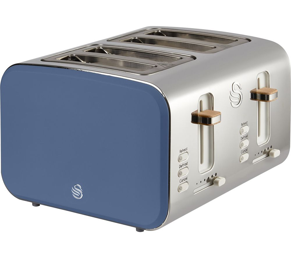 SWAN Nordic ST14620BLUN 4-Slice Toaster - Blue, Blue