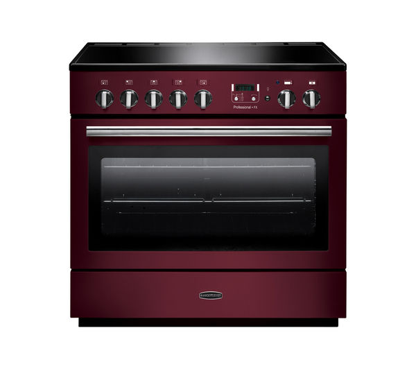 Rangemaster Professional+ FX 90 Electric Induction Range Cooker - Cranberry & Chrome, Cranberry