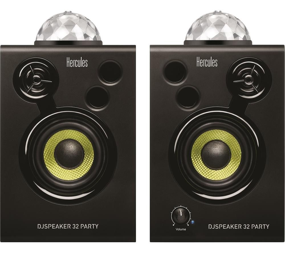HERCULES DJSpeaker 32 Party Speakers - Black, Black