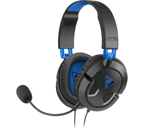 TURTLE BEACH Earforce Recon 50p 2.0 Gaming Headset - Black & Blue, Black