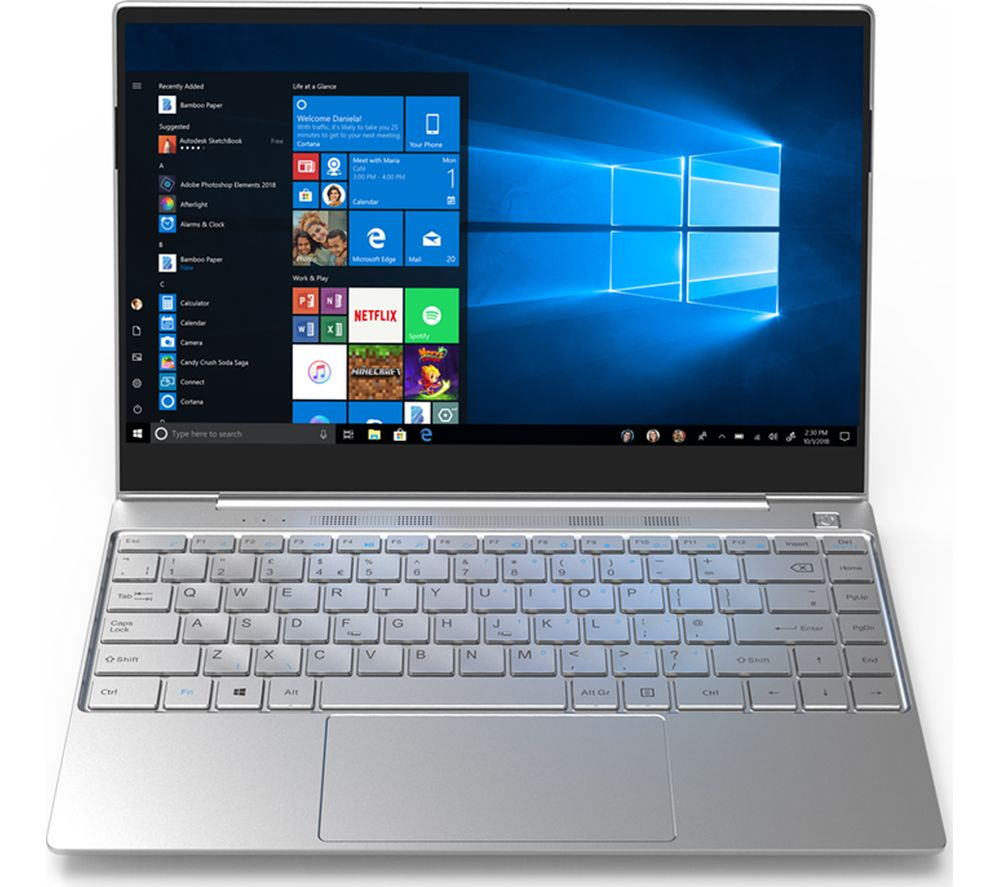 "GEO Book3Si 13.3"" Laptop - Intel® Core™ i3, 128 GB SSD, Silver, Silver"