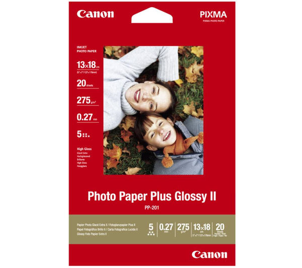 CANON 130 x 180 mm Photo Paper Plus Glossy II - 20 Sheets