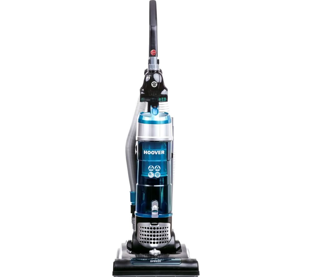 HOOVER Breeze Evo Pets TH31BO02 Upright Bagless Vacuum Cleaner - Black & Turquoise, Black
