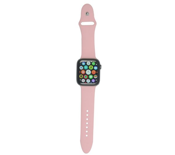 XQISIT Apple Watch 38 / 40 mm Silicone Strap - Pink, Small, Pink