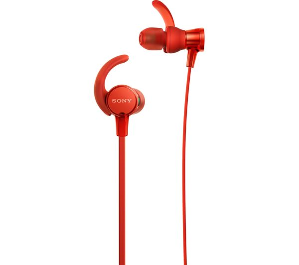 SONY Extra Bass MDR-XB510ASR Headphones - Red, Red