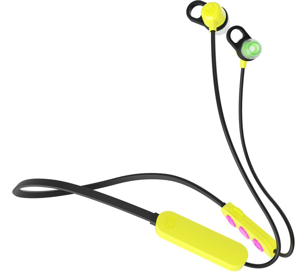SKULLCANDY Jib+ Wireless Bluetooth Earphones - Electric Yellow, Yellow