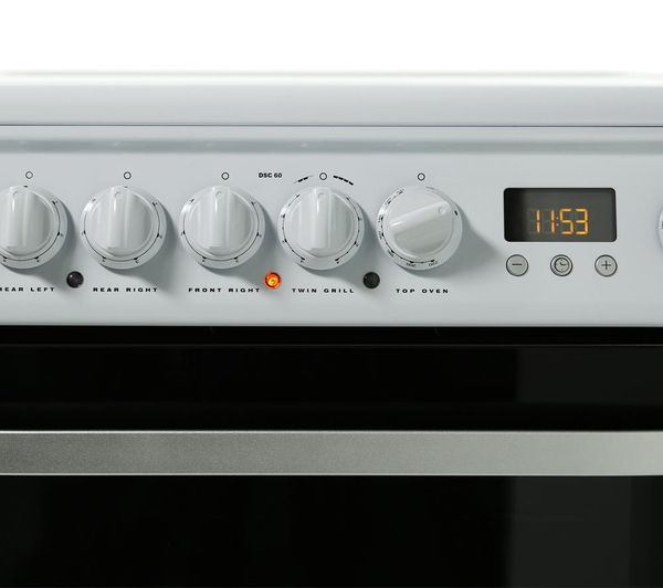 HOTPOINT DSC60P Electric Ceramic Cooker - White, White