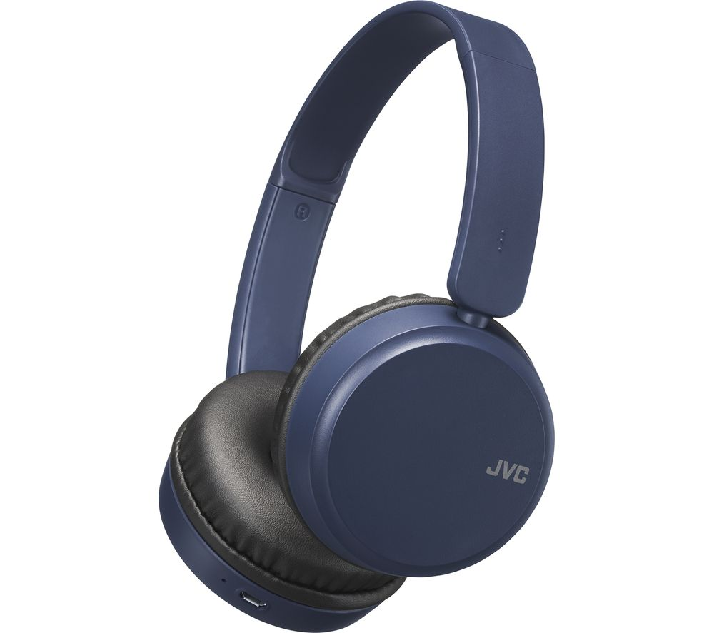 JVC HA-S35BT-A-U Wireless Bluetooth Headphones - Blue, Blue