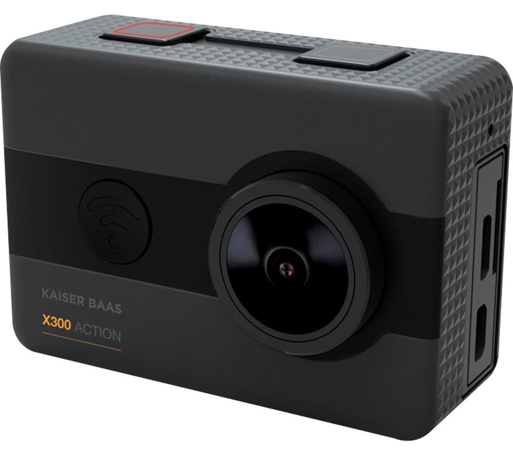 KAISER BAAS X300 2.5K Action Camera - Black, Black