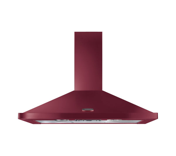 Rangemaster LEIHDC110CY/C Chimney Cooker Hood - Cranberry & Chrome, Cranberry