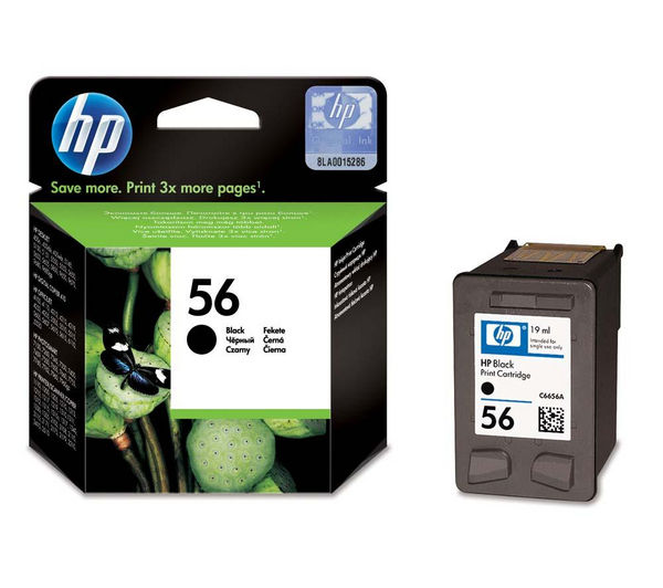 HP 56 Black Ink Cartridge, Black