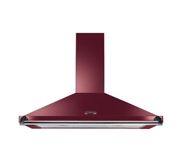 Rangemaster Classic CLAHDC100CY/C Chimney Cooker Hood - Cranberry & Chrome, Cranberry