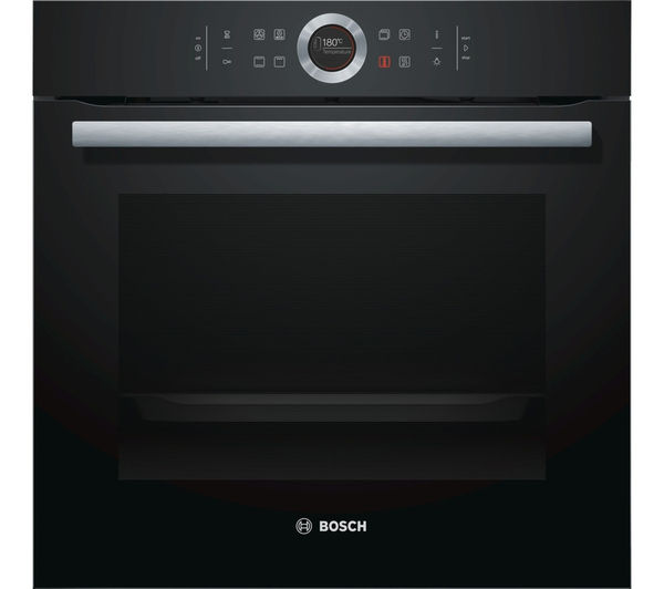 BOSCH Serie 8 HBG634BB1B Electric Oven - Black, Black