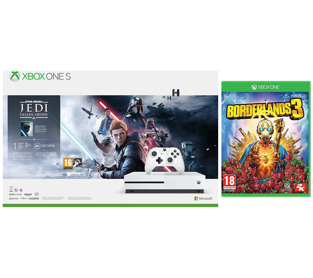 MICROSOFT Xbox One S, Star Wars Jedi: Fallen Order Deluxe Edition & Borderlands 3 Bundle - 1 TB