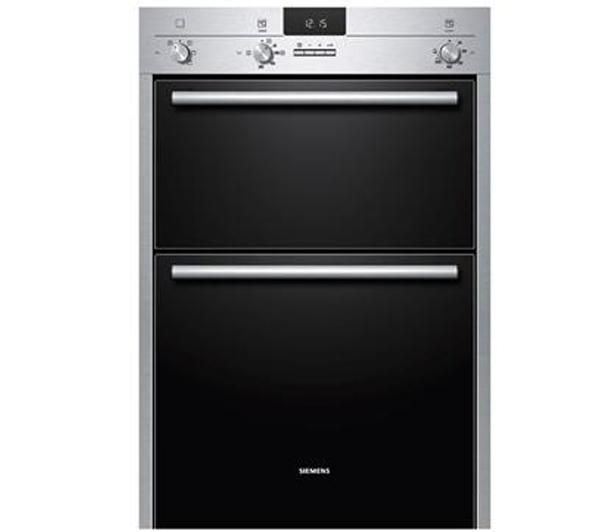 SIEMENS HB13MB521 Electric Double Oven - Stainless Steel & Black, Stainless Steel