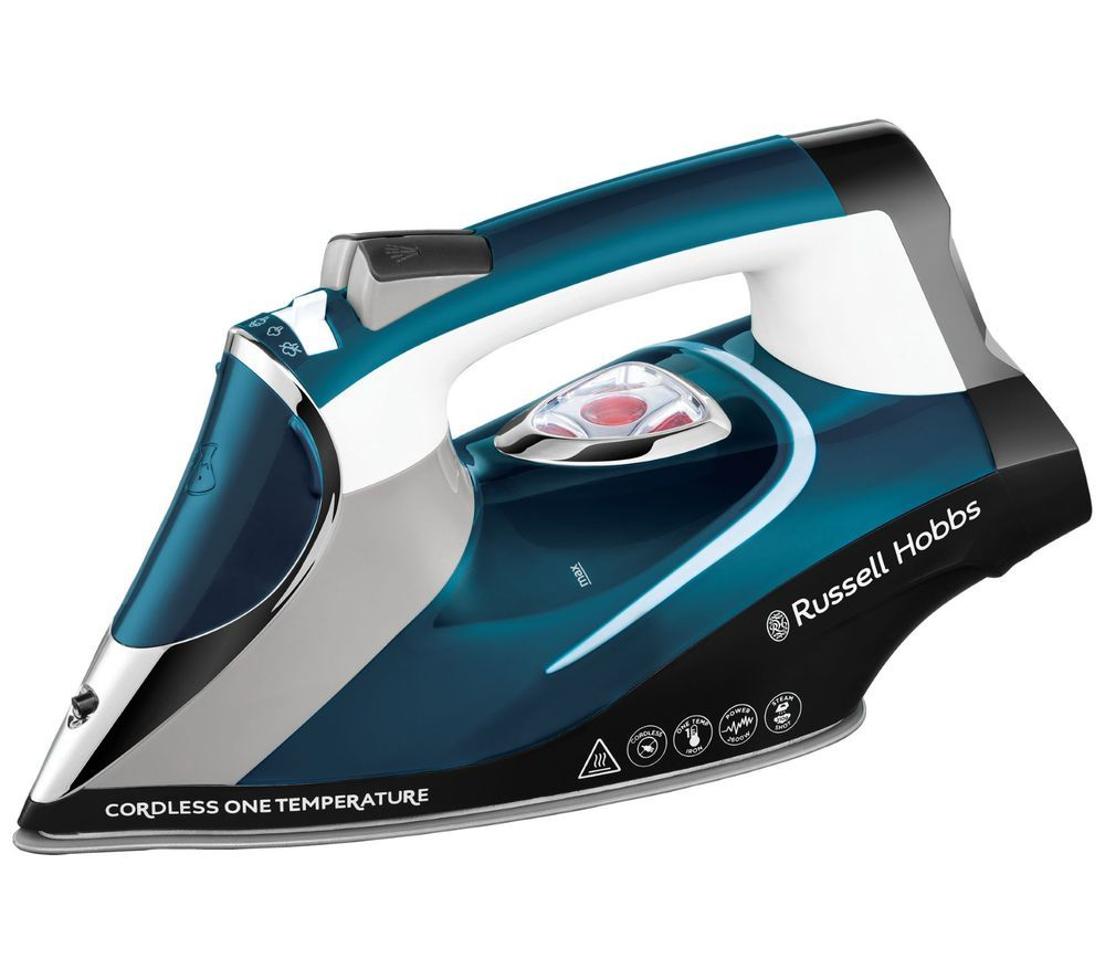 RUSSELL HOBBS One Temp 26020 Cordless Steam Iron - Blue & White, Blue