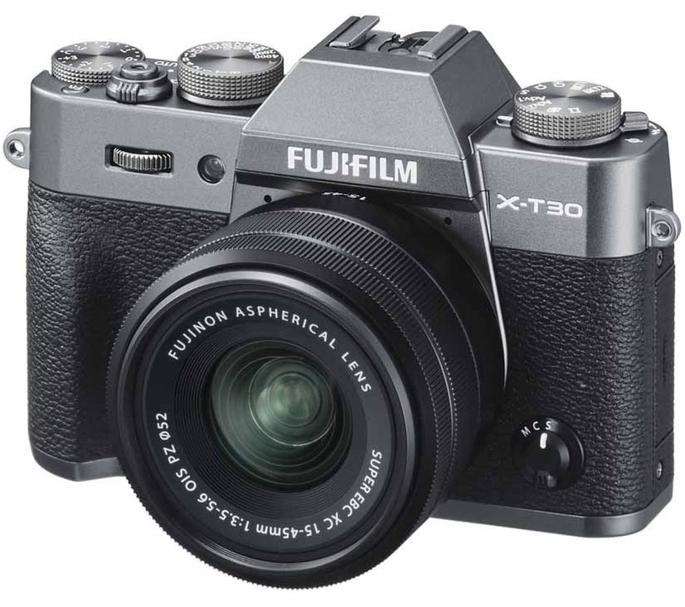 FUJIFILM X-T30 Mirrorless Camera with FUJINON XC 15-45 mm f/3.5-5.6 OIS PZ Lens - Charcoal, Charcoal