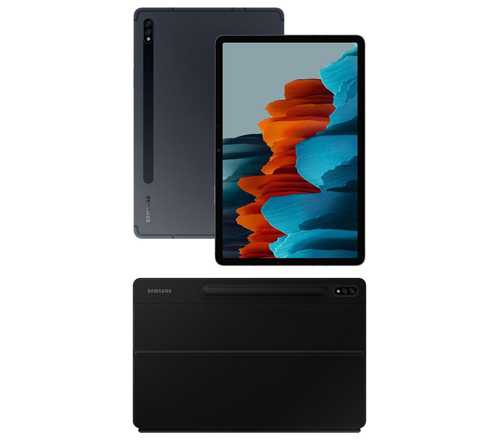 "SAMSUNG Galaxy Tab S7 11"" Tablet & Tab S7 Keyboard Cover Bundle - 128 GB, Mystic Black, Black"