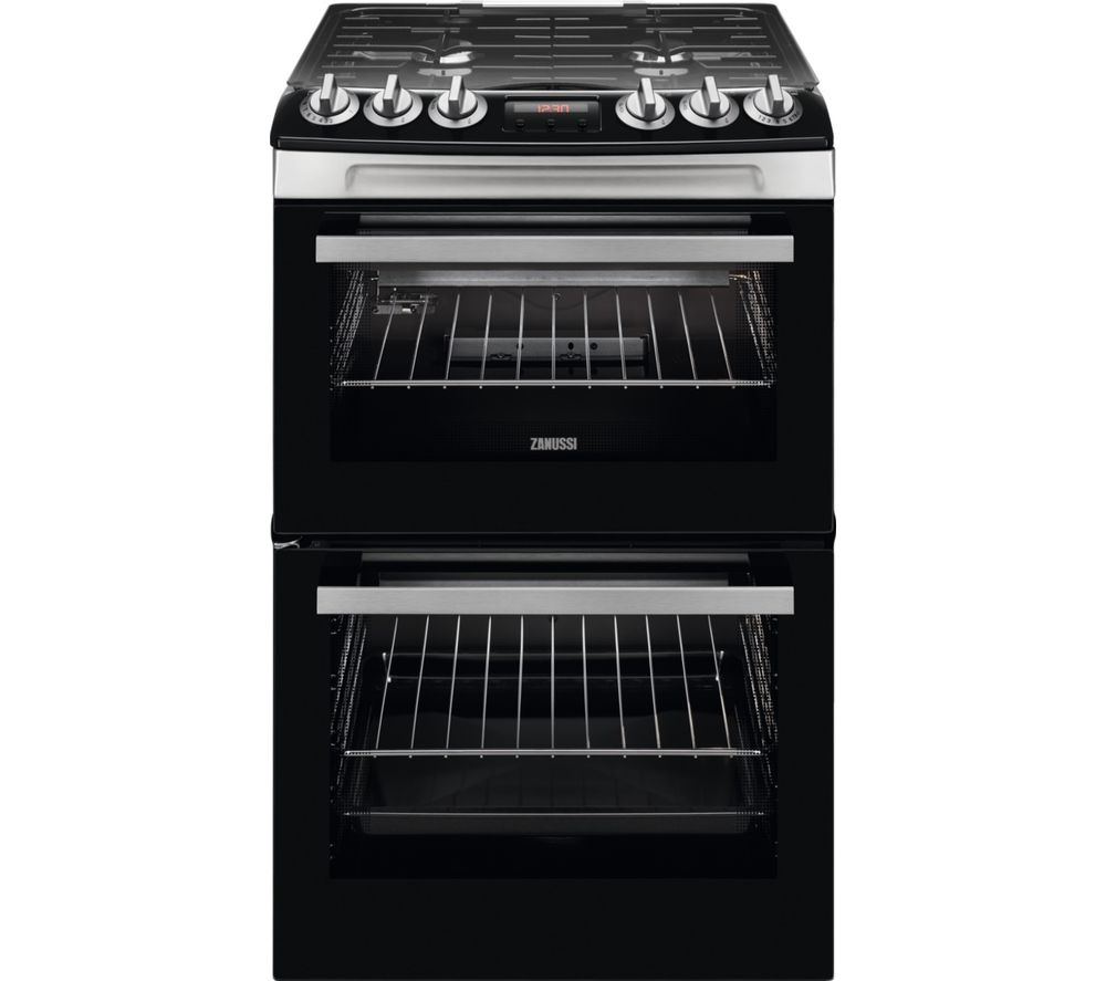 ZANUSSI ZCG43250XA 55 cm Gas Cooker - Stainless Steel, Stainless Steel