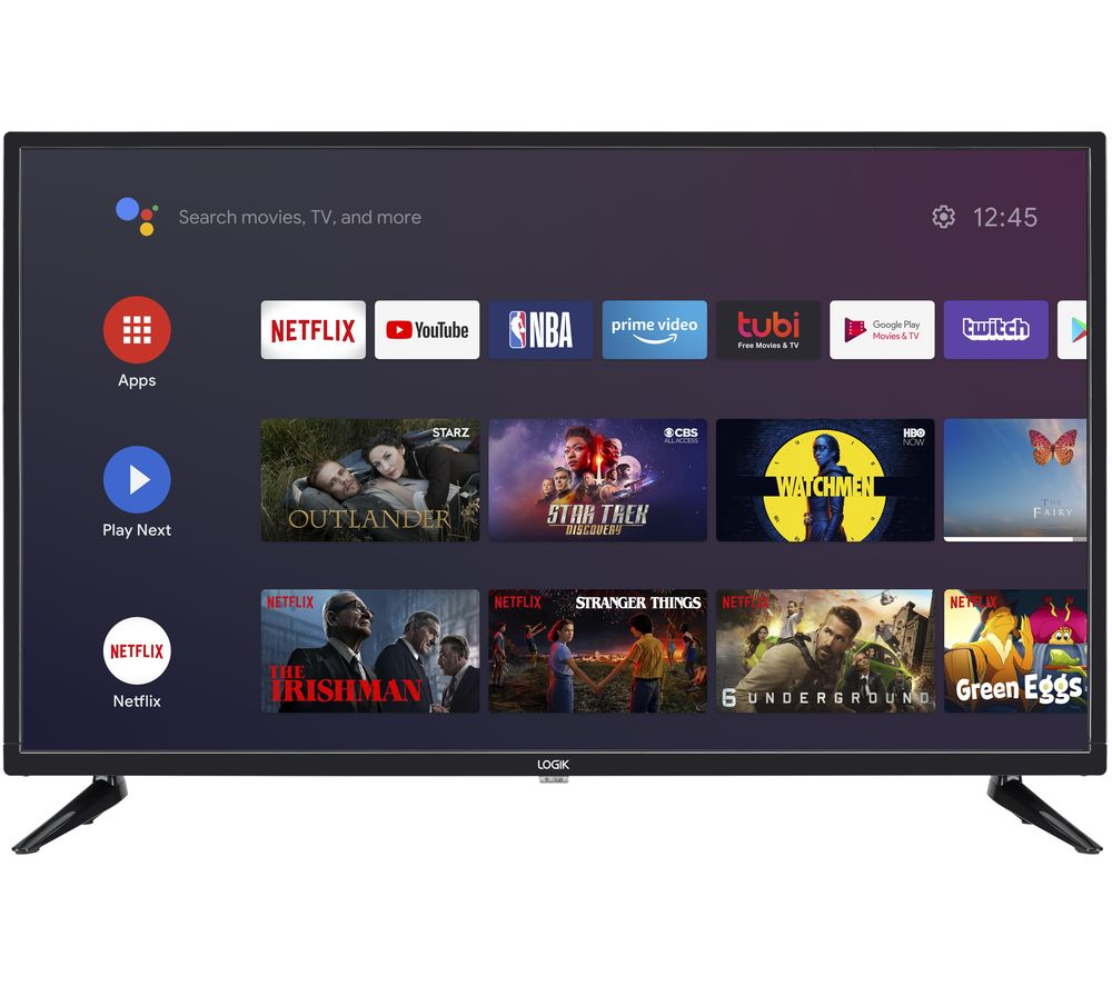 "32"" LOGIK L32AHE19 Android TV  Smart HD Ready LED TV with Google Assistant"