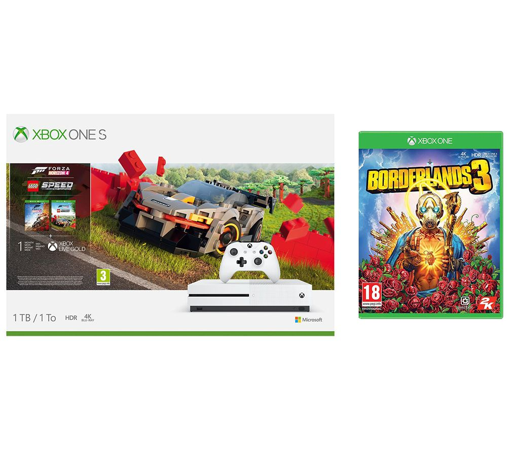 MICROSOFT Xbox One S, Forza Horizon 4, LEGO Speed Champions & Borderlands 3 Bundle - 1 TB