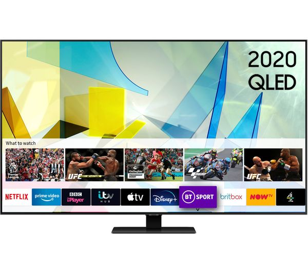 "85"" SAMSUNG QE85Q80TATXXU  Smart 4K Ultra HD HDR QLED TV with Bixby, Alexa & Google Assistant"