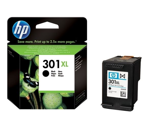 HP 301XL Black Ink Cartridge, Black