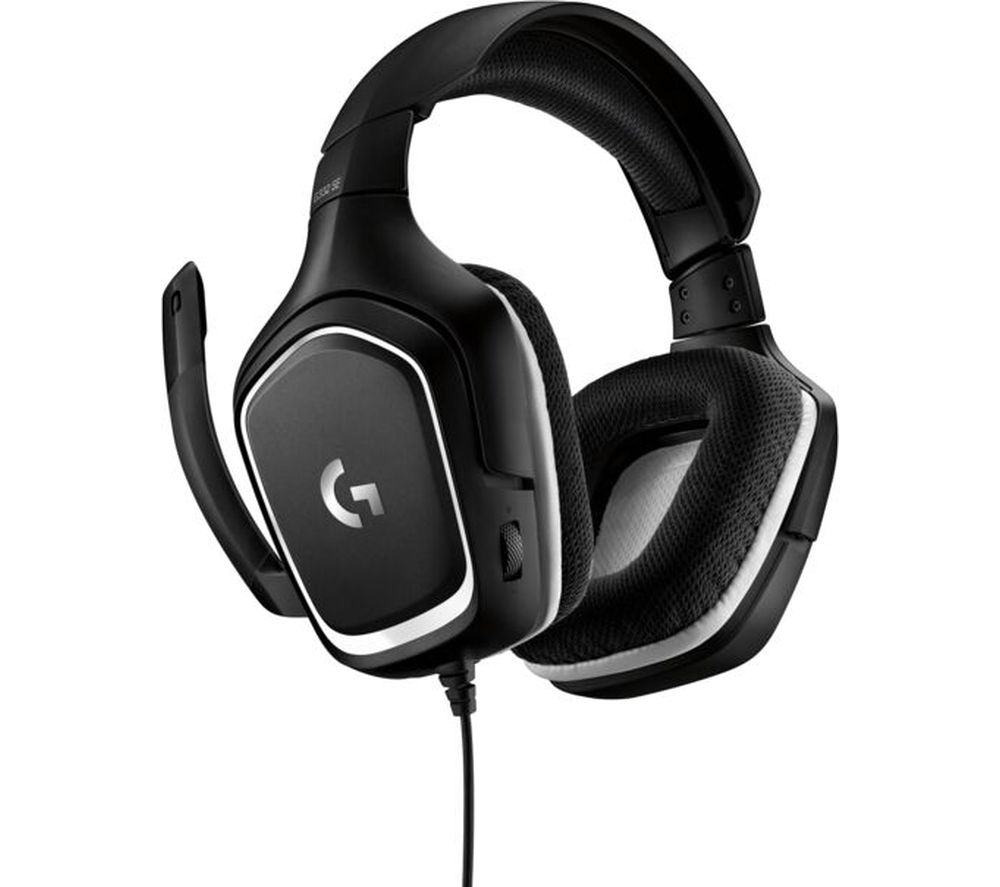 LOGITECH G332 SE Gaming Headset - Black & White, Black