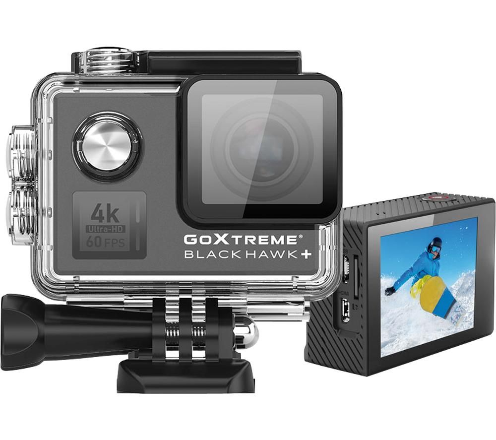 GOXTREME BlackHawk 4K Ultra HD Action Camera - Black, Black
