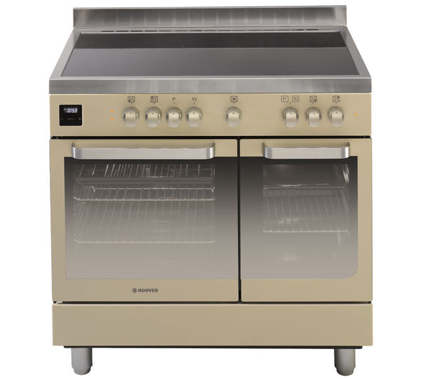 HOOVER HVD9395IV Electric Range Cooker - Ivory & Stainless Steel, Stainless Steel