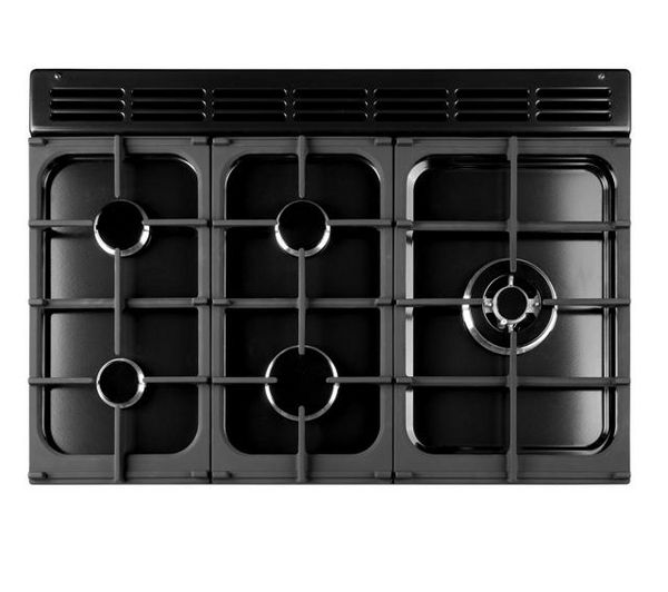 RANGEMASTER Kitchener 90 Dual Fuel Range Cooker - Black, Black