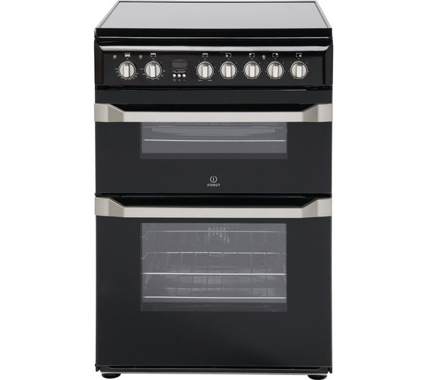 INDESIT ID60C2KS 60 cm Electric Ceramic Cooker - Black & Stainless Steel, Stainless Steel