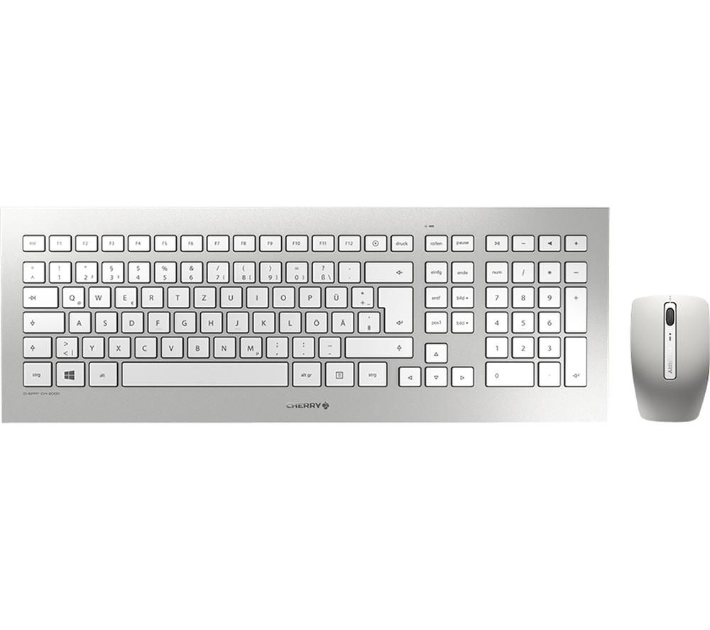 CHERRY DW 8000 Wireless Keyboard & Mouse Set, Silver
