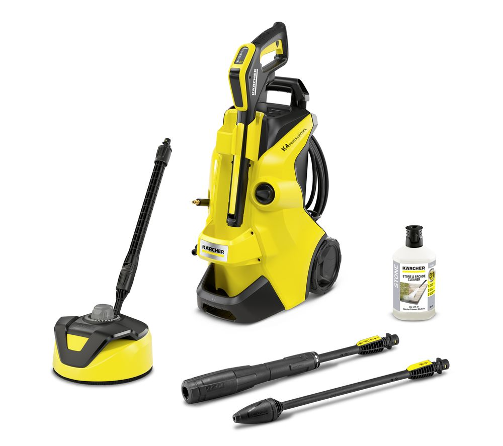 KARCHER K4 Power Control Home Pressure Washer - 130 bar, Stone